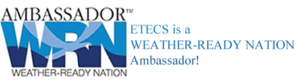 Weather-Ready Nation is about readying our community for extreme weather, water, and climate events. NOAA and ETECS partner and collaborate to help make others in our communities ready, responsive, and resilient to extreme events.
